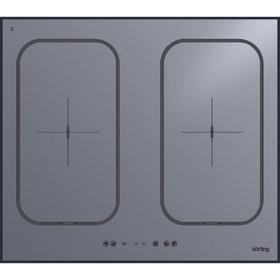 Варочная поверхность Körting HIB 6409 BS, индукционная, 4 конфорки, BRIDGE, серая
