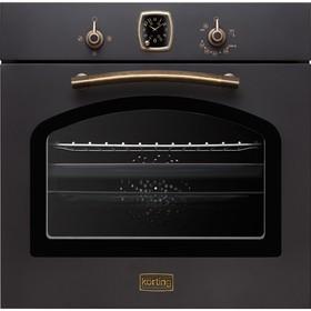 Духовой шкаф Körting OGG 741 CRN, газовый, 4 режима, каталитич. очистка, 67 л, черный
