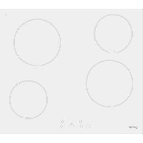 Варочная поверхность Körting HK 60001 BW, электрическая, 4 конфорки, 58 см, белая