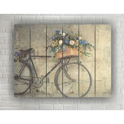 "Картина на дереве в стиле Loft ""Велосипед"" №1.68, 56*42 см"