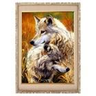 """Алмазная мозаика """"Волчья пара"""" 30 × 40, 40 цветов"""