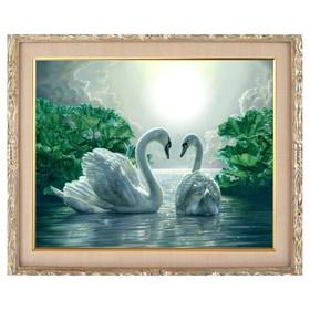 Алмазная мозаика «Лебединая верность» 50 × 40, 39 цветов