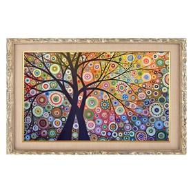 Алмазная мозаика «Райский сад» 29 × 20 см, 22 цвета