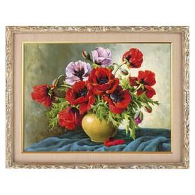 Алмазная мозаика «Натюрморт. Маки» 41 × 30 см, 33 цвета