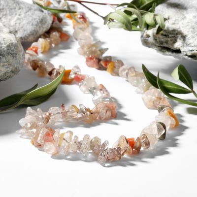 """Beads little small """"agate hairy"""", 45 cm"""