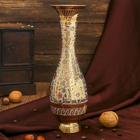 "Интерьерный сувенир ваза ""Нишитх"" латунь, 9,5х9,5х25 см"