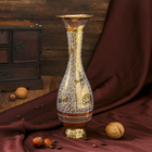 "Интерьерный сувенир ваза ""Оджас"" латунь, 9,5х9,5х25 см"