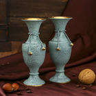 "Интерьерный сувенир ваза ""Сахель"" латунь, 6х6х14 см"