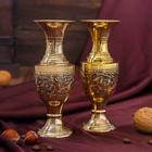 """Интерьерный сувенир ваза """"Утхкарш"""" латунь, 6х6х15 см"""