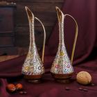 """Интерьерный сувенир ваза """"Фаяз"""" латунь, 7х7х20 см"""