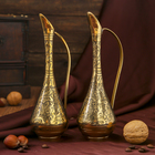 "Интерьерный сувенир ваза ""Реянш"" латунь, 7х7х20 см"