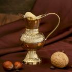 """Интерьерный сувенир ваза """"Самар"""" латунь, 7х10х10,5 см"""