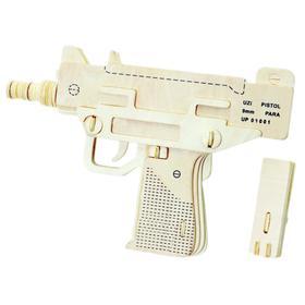 Сборная деревянная модель «Пистолет-Пулемет УЗИ»