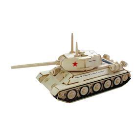 Сборная деревянная модель «Средний танк»