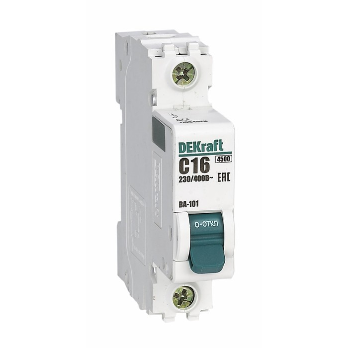 Выключатель автоматический DEKraft ВА-101, 1п, 10 А, х-ка С, 4.5 кА