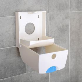 Диспенсер бумажных полотенец в листах, 17×12×15,5, пластиковый, цвет белый - фото 8132602