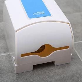 Диспенсер бумажных полотенец в листах, 17×12×15,5, пластиковый, цвет белый - фото 8132604