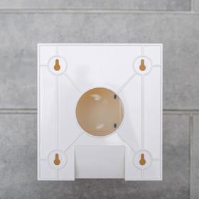Диспенсер бумажных полотенец в листах, 17×12×15,5, пластиковый, цвет белый - фото 8132605