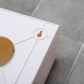Диспенсер бумажных полотенец в листах, 17×12×15,5, пластиковый, цвет белый - фото 8132607