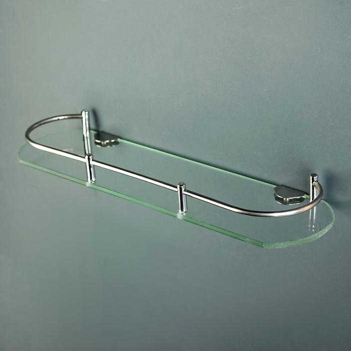 Полка для ванной комнаты, 40×11×4 см, металл, стекло