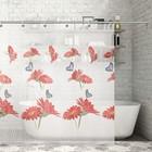 """Штора для ванной 180×180 см """"Герберы"""", EVA"""