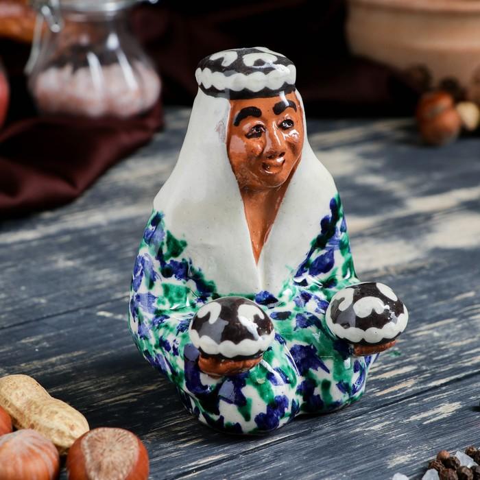 Фигурка керамическая Узбекская женщина 11 см - фото 370257197