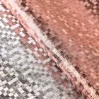 "Плёнка металлизированная ""Клетка"", цвет медный, 50 х 70 см"