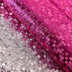 "Плёнка с металлизированная ""Клетка"", розовая, 50 х 70 см"