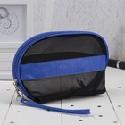 Cosmetic bag-handbag Department with zipper, with handle, color black/blue