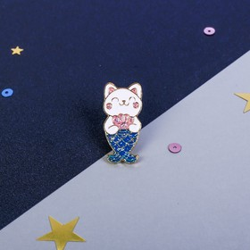 Брошь «Кот», 8 х 12 см - фото 7476254