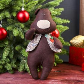 Кукла-игрушка сувенирная 'Медведь с малиной' 30 см Ош