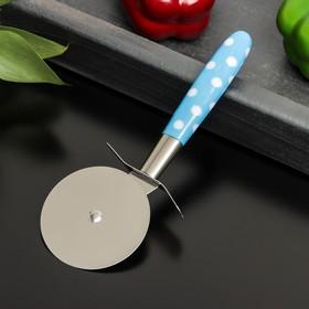 """Нож для пиццы и теста 18 см """"Горох"""" диаметр 6,5 см, цвет микс"""