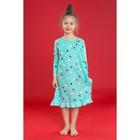 """Сорочка ночная для девочки MINAKU """"Новый год"""", рост 116-122 см, цвет бирюзовый"""