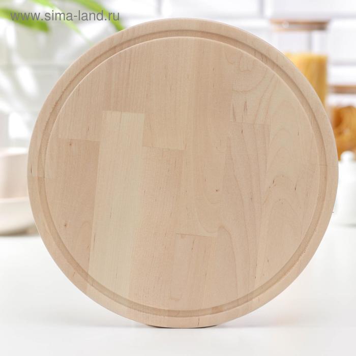 Cutting Board round 30×30 cm, birch