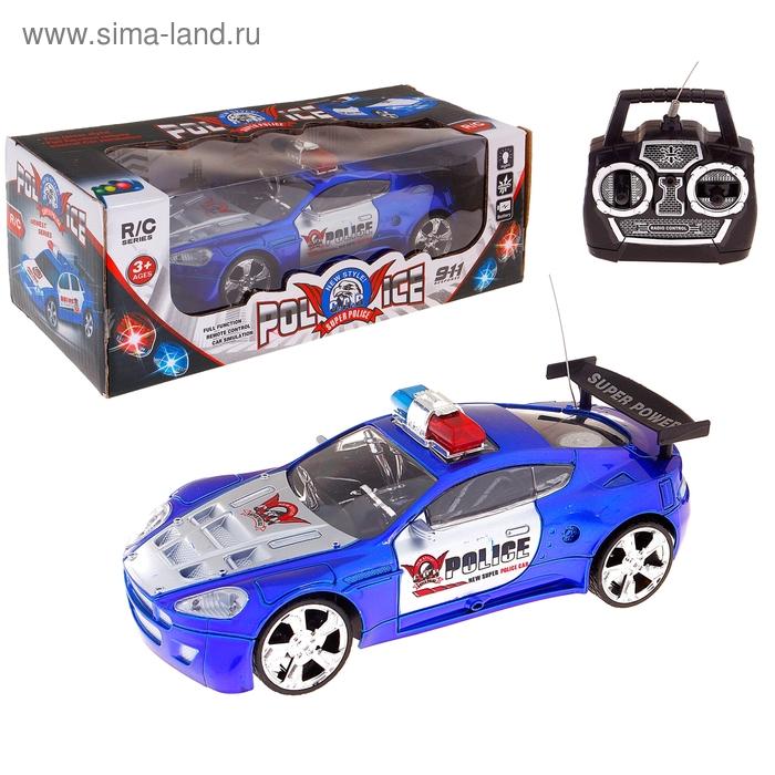 """Машина радиоуправляемая """"Городская полиция"""", работает от батареек, цвета МИКС"""