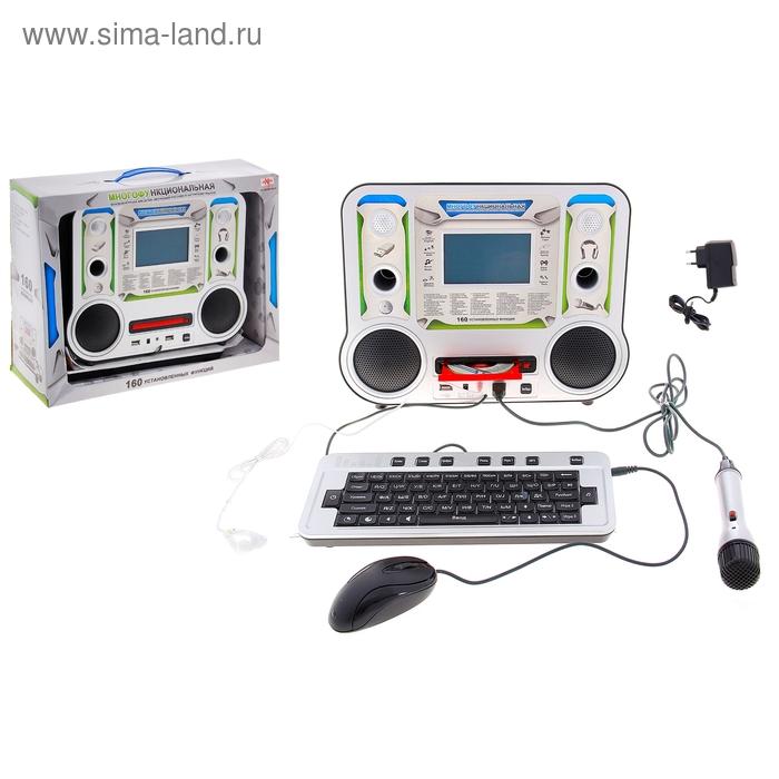 Компьютер детский обучающий, 160 функций, русский/английский язык, CD-диск, с наушниками и микрофоном, работает от сети