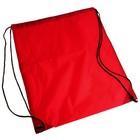Рюкзак- мешок для обуви, со шнурком, цвет красный
