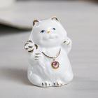 "Souvenir ""White cat-fatso"" crystals MIX 6,5х4х4 cm"