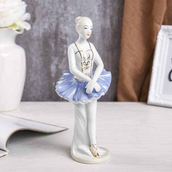 """Сувенир керамика """"Прима-балерина в голубой пачке"""" 23,7х9,5х9 см"""