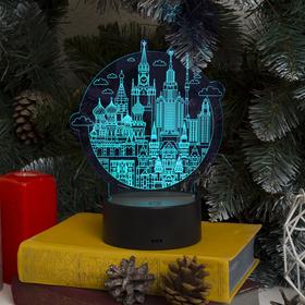 "Подставка световая ""Город"", USB, АА*3 (не в компл), 10 LED, RGB - фото 1899286"