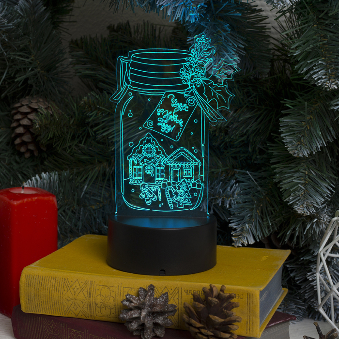 "Подставка световая ""Чудес в Новом Году"", USB, AА*3 (не в компл), RGB, 10 LED - фото 1383795"