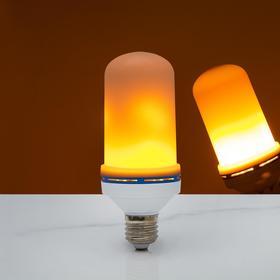 """Лампа декоративная """"Горящее пламя"""", 3 режима, SMD2835, 96 LED, 7 Вт, 220 В, цоколь Е27"""