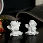 "Souvenir Polyresin ""White angel musician"" MIX 4х4х3 cm"