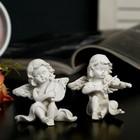 """Souvenir Polyresin """"angel musician"""" beige MIX 6,5х6х3,5 cm"""