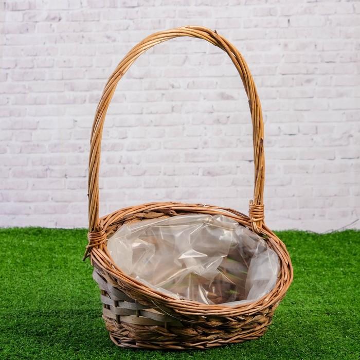 Корзина плетеная, ива, 27×20×6/36 см,
