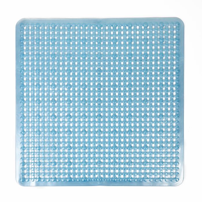 """Коврик для ванны 49.5×49.5 см """"Сетка перламутр"""", цвет МИКС"""