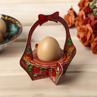 """Stand on 1 Easter egg """"Flowers"""" (a basket), 11 x 13 cm"""