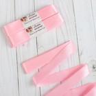 Набор атласных лент, 5шт, размер 1 ленты: 25мм, 5,4±1м, цвет розовый