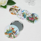 """Compact mirror """"Peacock"""", single sided, no magnification, MIX color"""