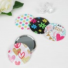 """Compact mirror """"Love"""", single sided, no magnification, MIX color"""